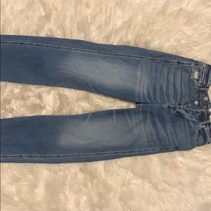 Hollister high rise crop boyfriend jeans